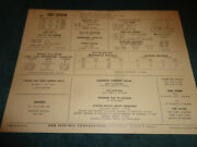 1966 Chevrolet Corvair 164 6 Cyl Engine Sun Tune-up Chart Super Turbo Air 2-1bbl