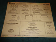 1965 Chevrolet Corvair 164 6 Cyl Engine Sun Tune-up Chart / Super Turbo Air