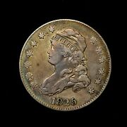 1825/4/2 25c Capped Bust Silver Quarter Dollar Rare Browning 2 Us Type Coin