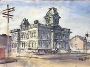 Rare Vintage Watercolor By African American Artist Thomas Malloy 1913-2008, 4