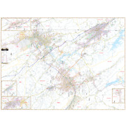 Tri Cities Bristol Johnson City And Kingsport Tn Wall Map