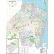 Monmouth County, Nj Wall Map