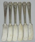 Heraldic 1847 Rogers 1916 Silverplate 6 Old French Butter Spreader Blunt End Uu