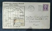 1937 Uss Aylwin Destroyer San Diego Ca Crosby Cover To Lawrence Ma