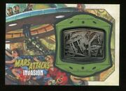 2013 Topps Mars Attacks Invasion Sp Medallion Card Mm-11 - Crushed To Death