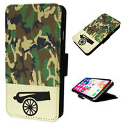 Armed Forces Camo Cannon - Flip Phone Case Wallet Cover Fits Iphone And Samsung