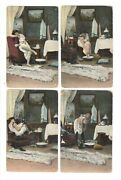 Lot Of 8 Real Photo, Risque Nude Female, Lady Before Bathing, Postcard /129