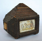 Exceptional Tramp Art Sewing Box