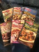 Lot Of 6_soft Cover_assorted Cook Books_recipes_easy Meals_make Ahead_pictures