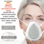 Smart Non-disposable Filtration W/ Electric Fan Half Face Full Protection