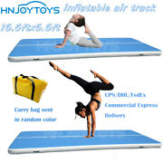 Inflatable Air Track Floor Inflatable Gymnastics Tumbling Mat Gym16.5x6.6ft4inch