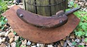 Antique 1800andrsquos L And I. J. White Wood Curved Concave Barrel Planer Chisel Tool