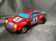 Rare Vintage Yonezawa Porsche 911 Battery Operated Engine Lights Up Works Great+