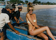 Gilles Decamps 12x16 1993 Photograph Of Elle Macpherson In Bikini In A Boat