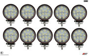 Ten Powerful 39w Led 4.7and039and039 Round Led Work Lights 12v 24v Lamps For Lorry Trailer