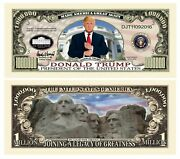 Donald Trump Legacy Limited Edition Million Dollar Bill - Highly Collectible ...