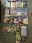 Leap Frog Lot-quantum Pad-iquest-16 Books And Cartridges-some Unused-pad In Gc