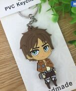 Attack On Titan Eren Yeager Keychain Key Ring 3andrdquo X 1.5andrdquo Us Seller