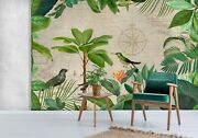 3d Green Leaves Bird A237 Wallpaper Wall Mural Self-adhesive Andrea Haase Amy