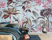 3d Brown Leaves Bird A245 Wallpaper Wall Mural Self-adhesive Andrea Haase Amy