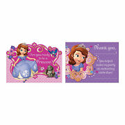 Sofia The First Invitations And Thank You Cards - Party Supplies - 16 Pieces