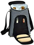 D Wine And Cheese Cooler, Picnic Backpack Bag, For Outdoor Houndstooth