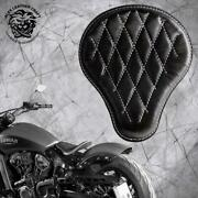 Bobber Seat Indian Scout Since`17 With Mounting Kit And Springs Black And White V3