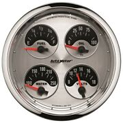 Auto Meter 1212 5 Quad Gauge 8-18v/240-33 Ohms American Muscle New