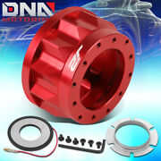 J2 For 1992-2001 Civic Integra 6-hole 2 Height Red Steering Wheel Hub Adapter