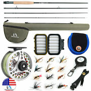 Maxcatch Extreme 3/4/5/6/7/8wt Fly Fishing Rod Combo Fly Reellineflies Outfit