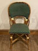 Antique Maison J Gatti Cafe Chair Rattan Made In France