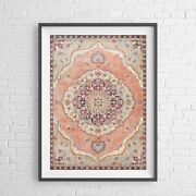 Lotus Trader - Medallion Floral Pattern Poster Picture Print Sizes A5 To A0 New