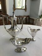 Gorham Plymouth Sterling Silver Coffee 3 Piece Set