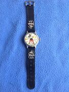 Vintage 1930and039s Ingersoll Mickey Mouse Wrist Watchoriginal Leather Bandcharms