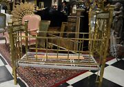 Antique French Brass Baby Bed Rare Find 1860-1880