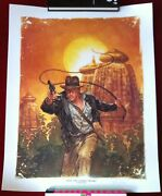 Indiana Jones Thunder In The Orient - Sandn Poster Print By Dave Dorman - Dhc