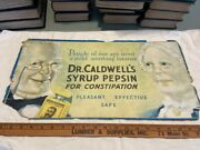 1920 Medicine Bottle Advertising Cardboard Sign Dr Caldwells Syrup Monticello Il
