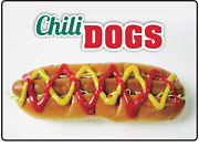 Restaurant Fast Food Retail Chili Dogs | Adhesive Vinyl Sign Decal
