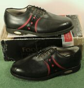 New In Box Mens Footjoy Classics Tour 9 E Wide Style 51490 Black/red Golf Shoes