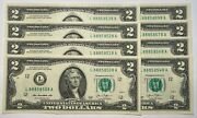 Gem/unc Lot Of 8 2013 2 Notes With Fancy Lucky 8and039s 888x8xx8