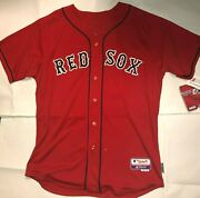 New Boston Red Sox Authentic Majestic Alternate Jersey Great Fathers Day Gift