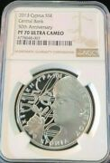 2013 Cyprus Silver 5 Euro Central Bank Anniv Ngc Pf 70 Ultra Cameo Perfect Pop 1