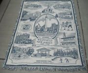 Large Cotton Westfield Nj Couch Cover/sofa-shows Highlights Of The Town