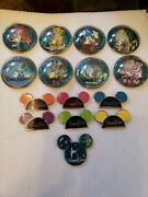 Disney 2013 World Of Color Complete Set 15 Pins Super Chaser And 6chasers 8 Bubble