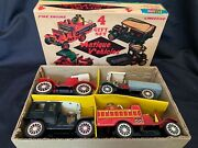 Cragstan 4 Piece Gift Set Friction Antique Vehicles In Box Japan 40129 +