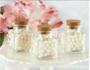 Mini Treat Square Glass Party Wedding Favor Gift Jars With Cork Lids Set Of 12