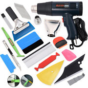 Car Home Paint Shrink Wrapping Heat Gun Kit With Squeegee Felt Knife Blade Tools