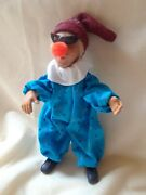 Byers Choice Kindle Clown In Blue Jumper