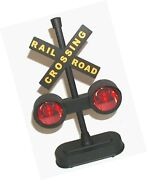 Hayes 15887 Railroad Train / Track Crossing Sign With Flashing Lights And Sou...