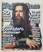 Rob Zombie Signed Rolling Stone Magazine Issue 805 Director White Zombie Rad